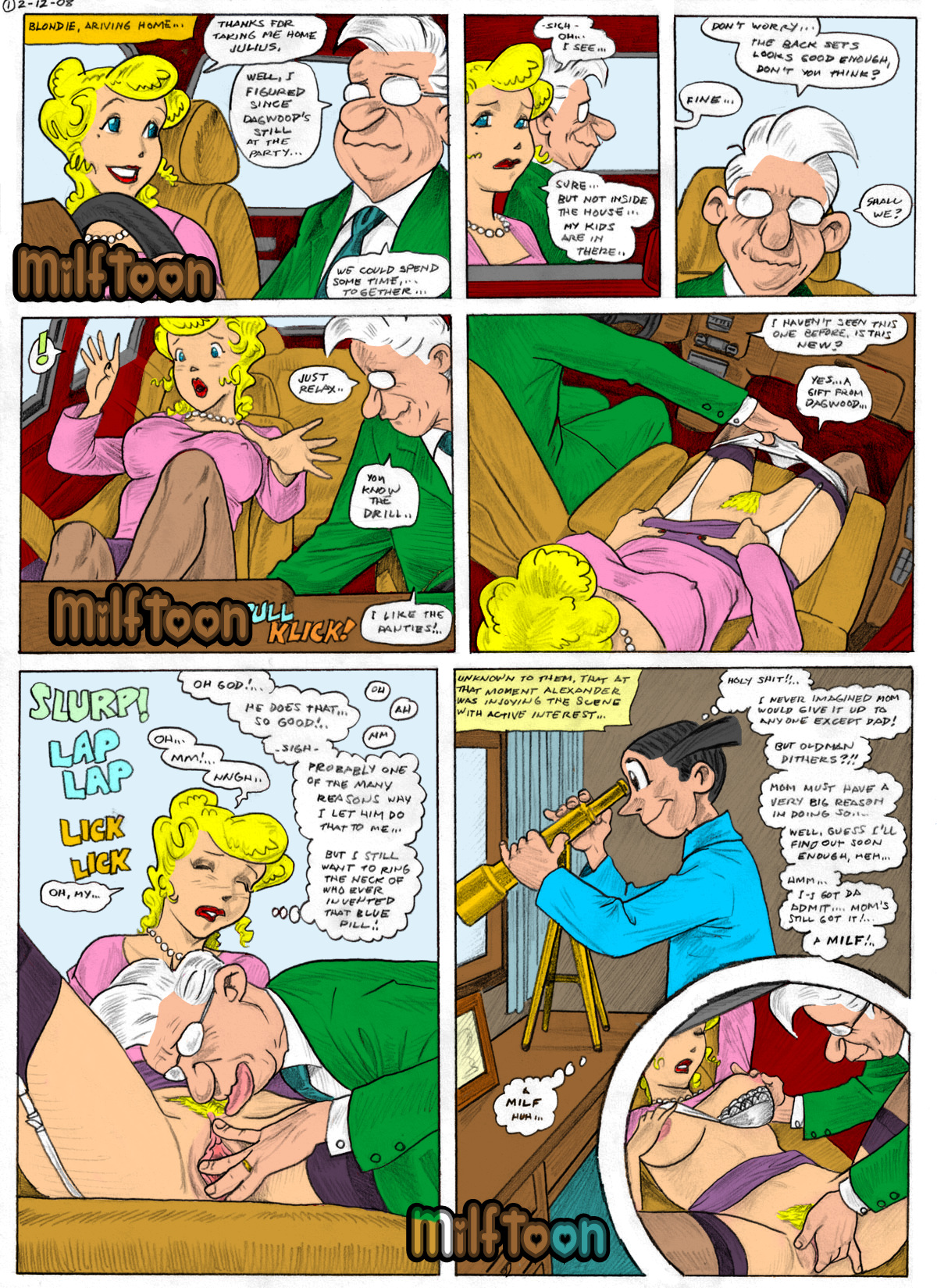 Blondie and dagwood sex cartoons