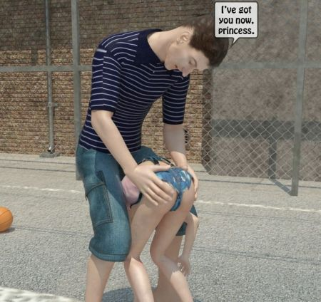 Playing basket-ball with a dad [3d Incest Porno Comics]