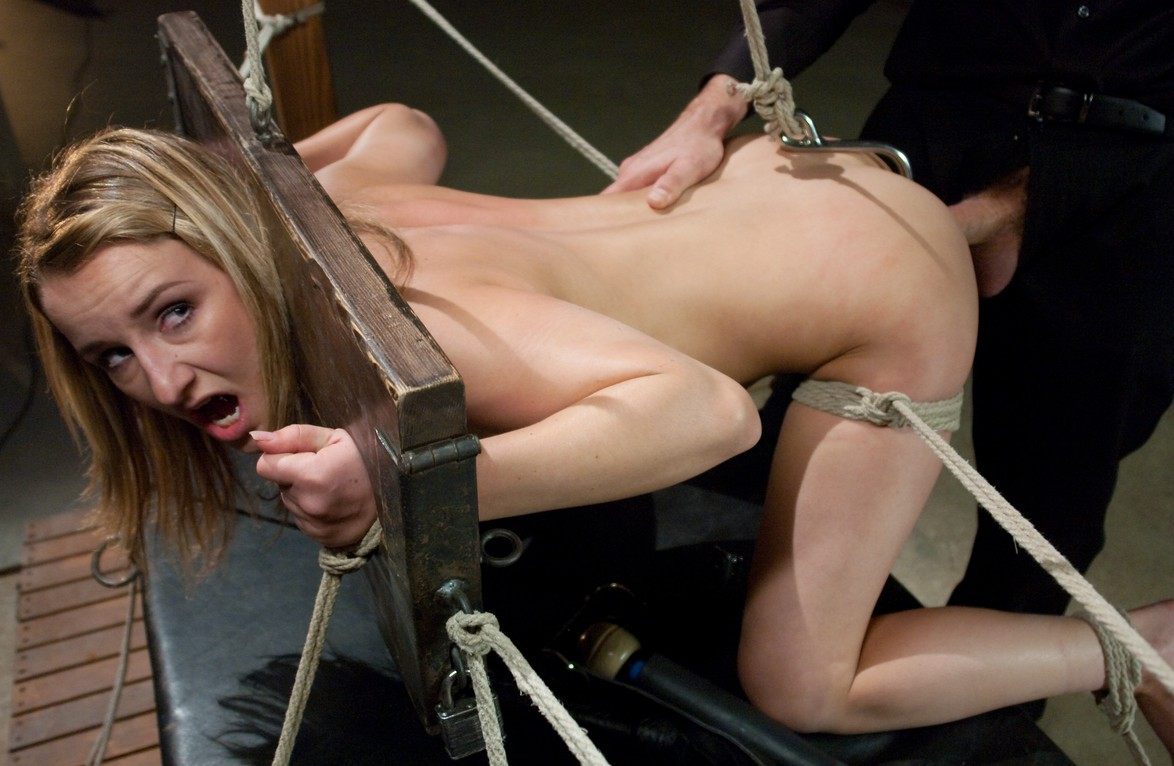 Nude bondage girl helpless