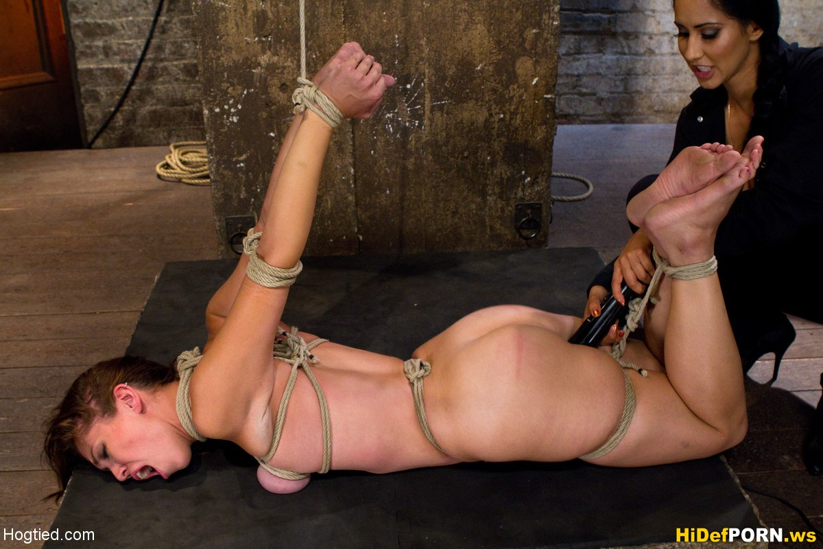 Girls elbows tied touching bondage