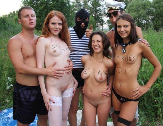Московские студенты на природе порно