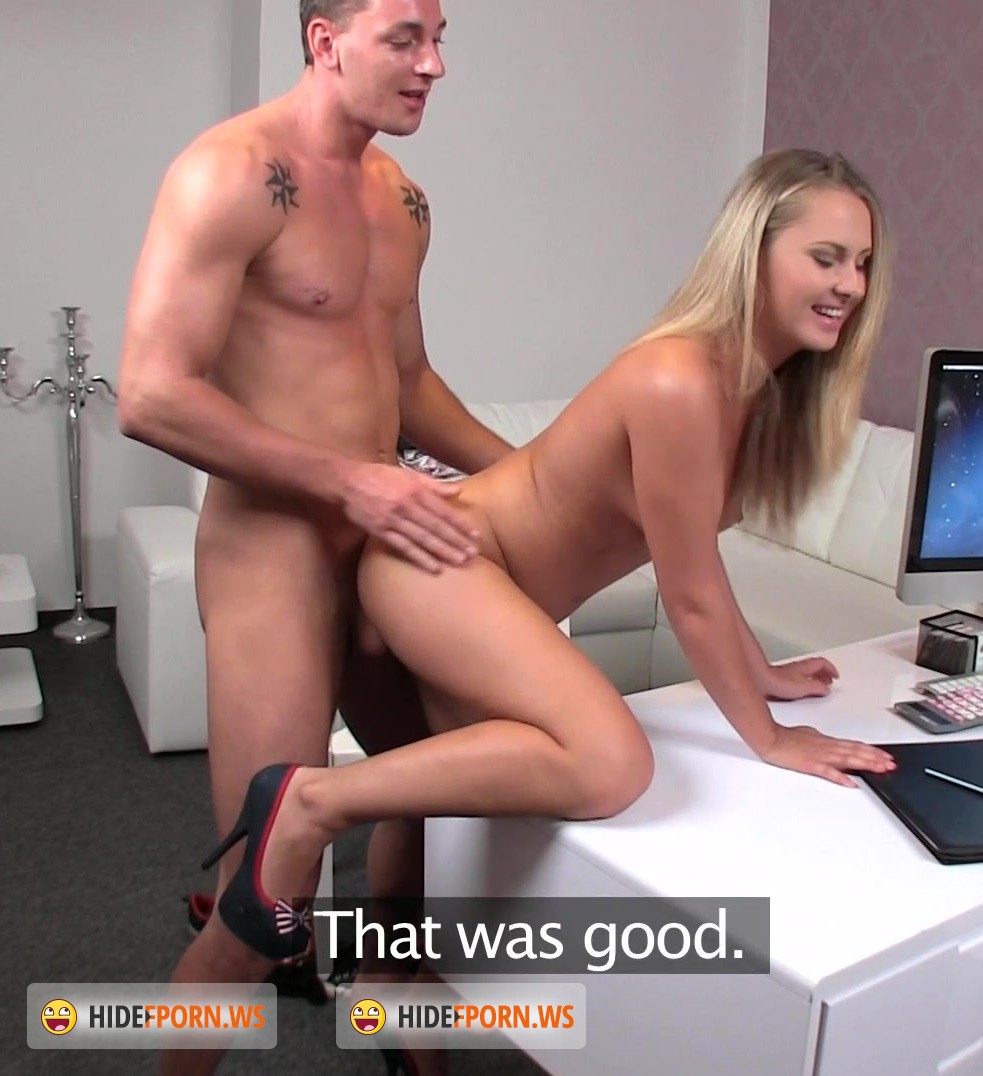 Future pornstar pussy licked by a nerdy casting agent