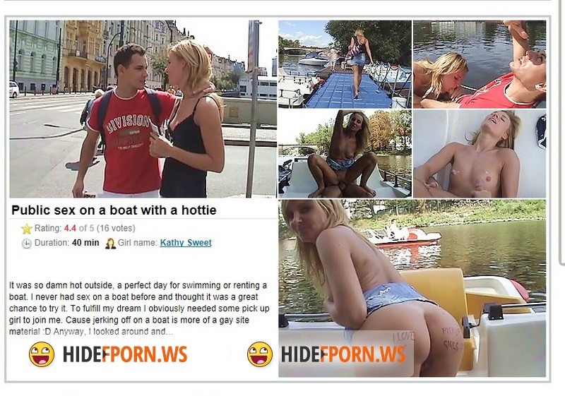 PickupFuck.com - Kathy Sweet - Public Sex On A Boat With A Hottie