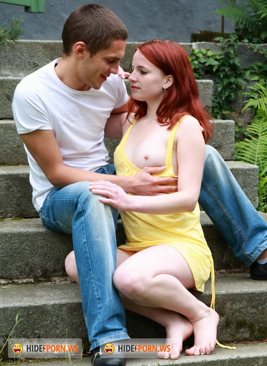TeenDorf.com - Jarmila - Sex On The Lawn With A Redhead Girl [HD 720p]