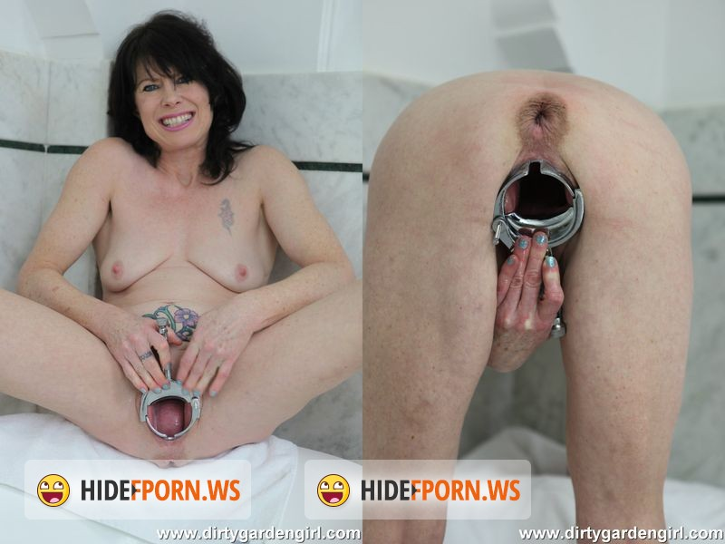 DirtyGardenGirl.com - Dirty Garden Girl - XO speculum and cream pussy fisting [HD 720p]