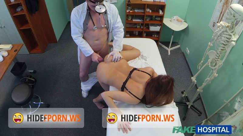 FakeHospital.com - Denisa Bergmanova - Beautiful brunettes wet pussy gets doctors cock on the examining table [HD 720p]