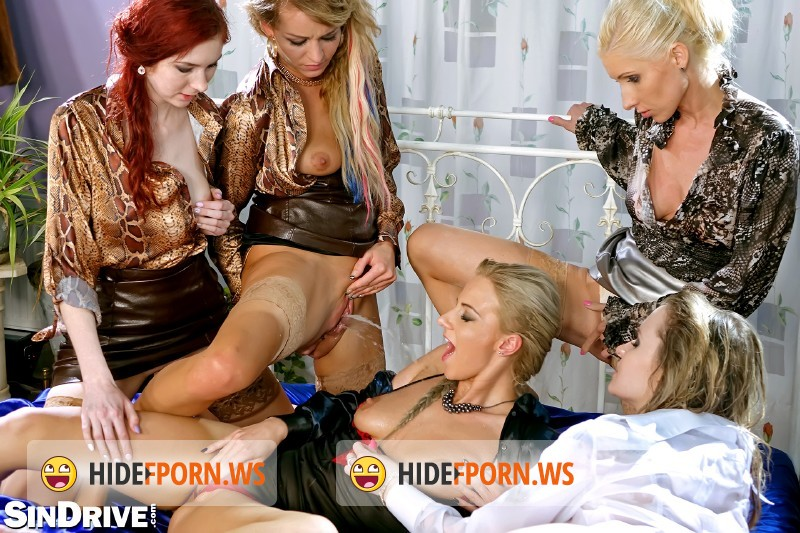 SinDrive.com - Adel Sunshine, Vanessa, Angel Piaf, Nathaly Cherie, Kate Gold - The Golden Shower Power Hour: 2 Denim/Silk-Clad Misfits On 3 Piss Soaked Hardcore [HD 720p]