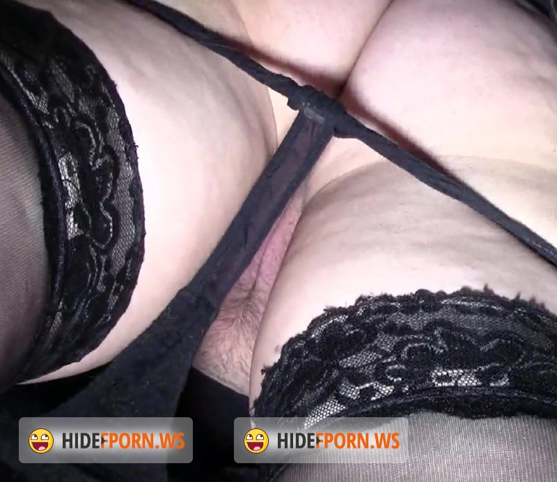 MadUpskirt.com - Amateurs - Chubby Babe In Black Stockings And Black Panties [FullHD 1080p]