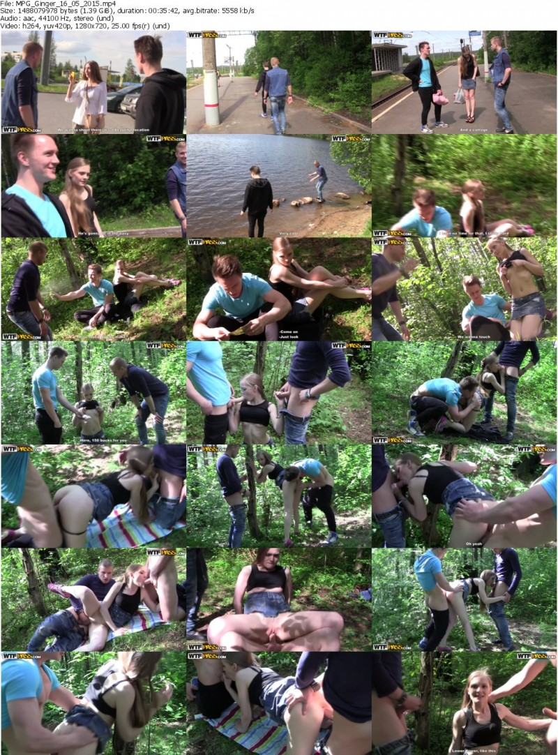 MyPickupGirls.com - Ginger - Thrilling Outdoor Sex in the Woods [HD 720p]