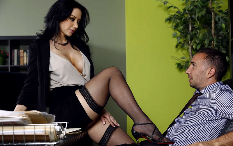 BigTitsAtWork.com - Jayden Jaymes - Let My Tits Make It Up To You [SD 480p]