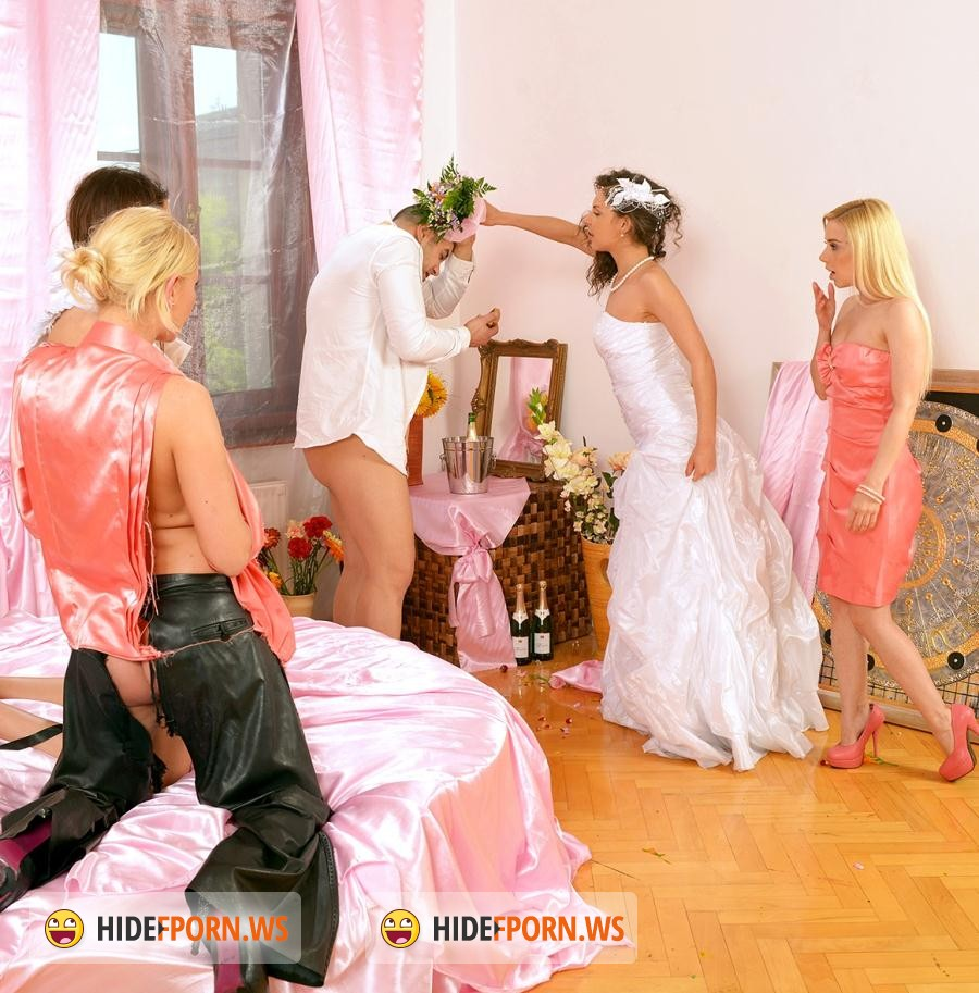 Upperclassfuckfest.com/SinDrive.com: Henessy, Lindsey Olsen, Meg Magic, Nesty - Our 4-Girl-All-Holes-Ready-Royal-Rumble De Luxe: All Hands On The Beauty Pissed Off Bridezilla HENESSY [HD]