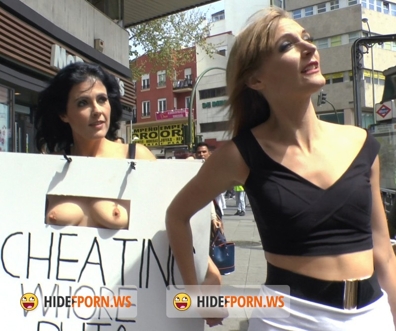 PublicDisgrace.com/Kink.com - Mona Wales, Xavi Tralla, Montse Swinger - Cheating Wifes Big Hot Ass Shamed Fully Naked In Public Display [HD]