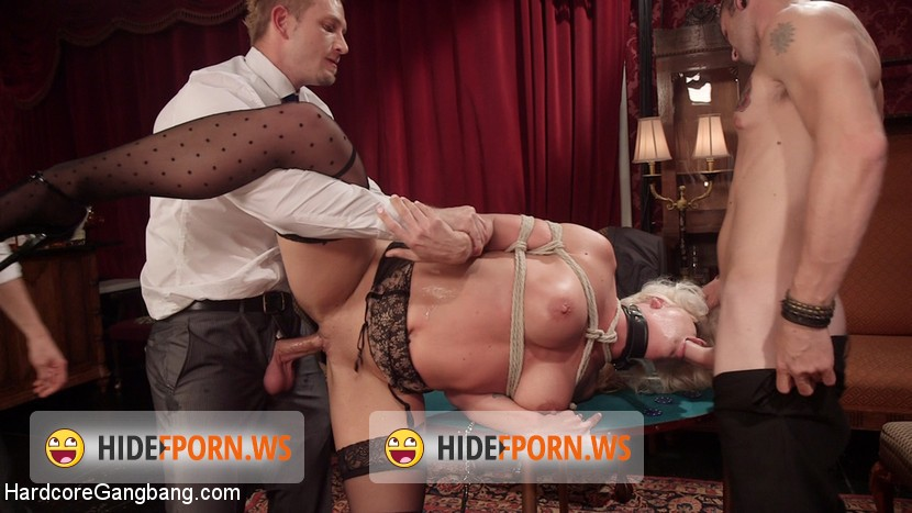 HardcoreGangBang.com/Kink.com: Holly Heart - All In: Holly Heart gets TRIPLE PENETRATED by HUGE fat [HD]