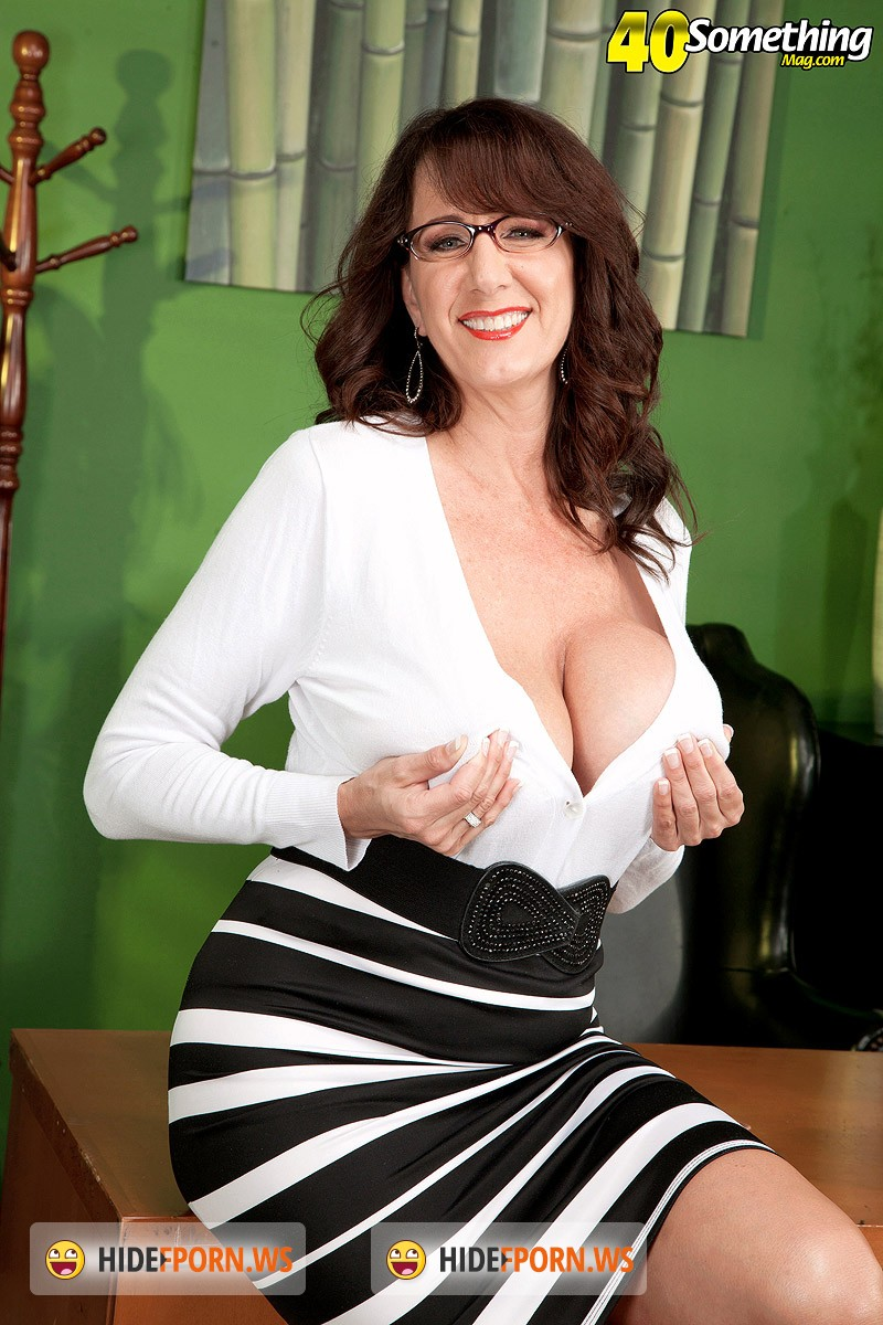 40SomethingMag.com/PornMegaLoad.com - Cassie Cougar - Fucking The Big-Titted MILF Whos Wearing Glasses [HD 720p]