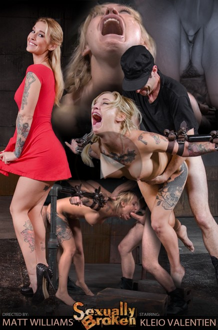 SexuallyBroken.com: Kleio Valentien - Toned and tattooed Kleio Valentien belt bound and destroyed with drooling deepthroat and rough sex! [FullHD 1080p]