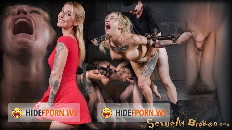 SexuallyBroken.com - Kleio Valentien - Toned and tattooed Kleio Valentien belt bound and destroyed with drooling deepthroat and rough sex! [SD 540p]