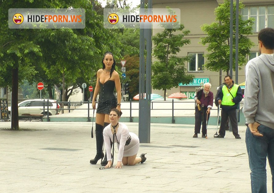 PublicDisgrace.com - Lucia Love - Disgusting Piss Guzzling Slut Paraded Through Budapest [HD 720p]