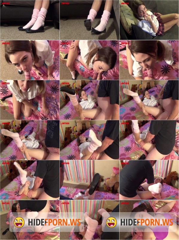 Jwties.com/Clips4sale.com - Claire Heart - Harder Uncle Bob And Cum On My Socks [SD 480p]