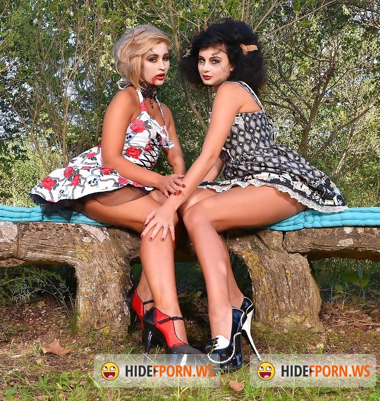 Hot Legs Feet: Lucy Li, Tracy Lindsay aka Tracy Delicious - Lesbian Outdoor Halloween: Trick or Treat, Fuck or Feed? (Foot Fetish) [FullHD 1080p]
