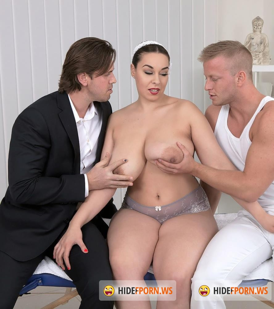PornMegaLoad - Anastasia Lux - Three On A Massage Table [FullHD 1080p]