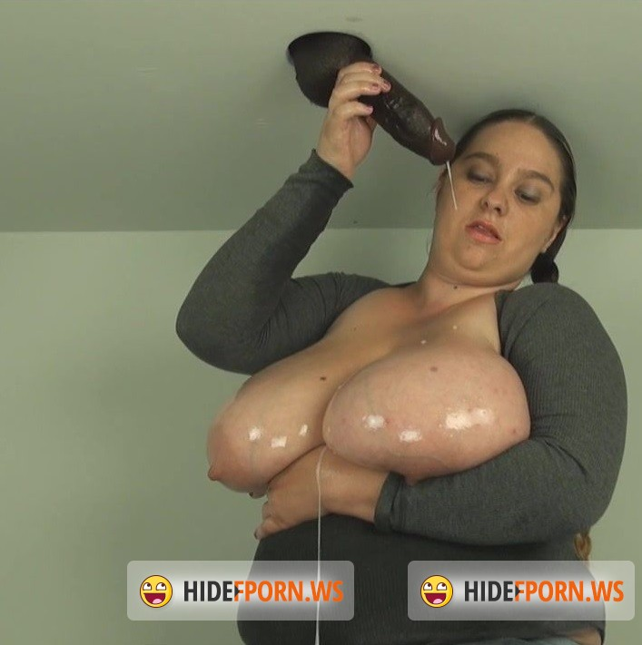HandDomination.com - April - Black gloryhole cock Drenched Aprils huge Tits for nearly 40 seconds [HD 720p]