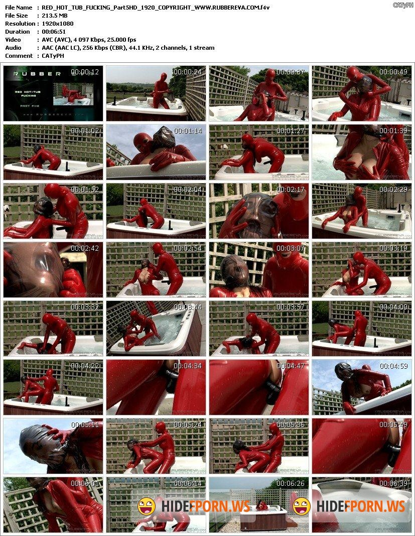 RubberEva.com - Eva - Red Rubber Hot Tub Fuckers Part 5  [FullHD 1080p]