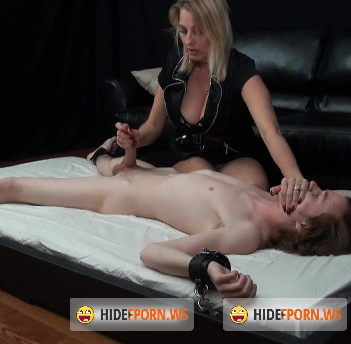 HandDomination.com - Amateurs - Twisted Step Mom gives Femdom handjob to young 11inch penis [HD 720p]
