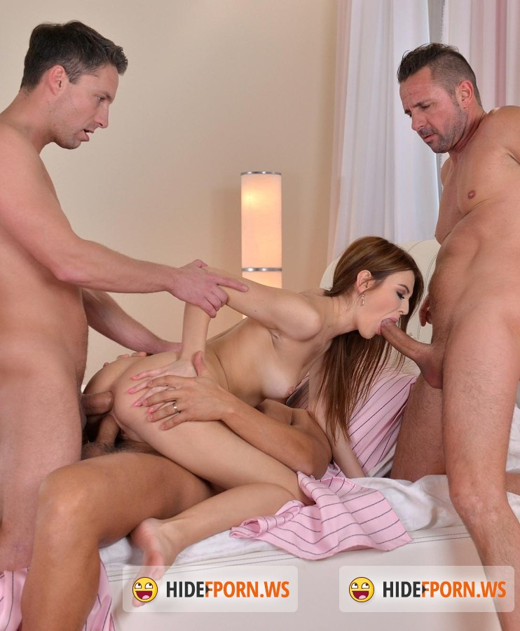 DDFNеtwork - Timea Bela - Banging That Box: Brunette Teenager Gets Fucked By Three Stud [FullHD]