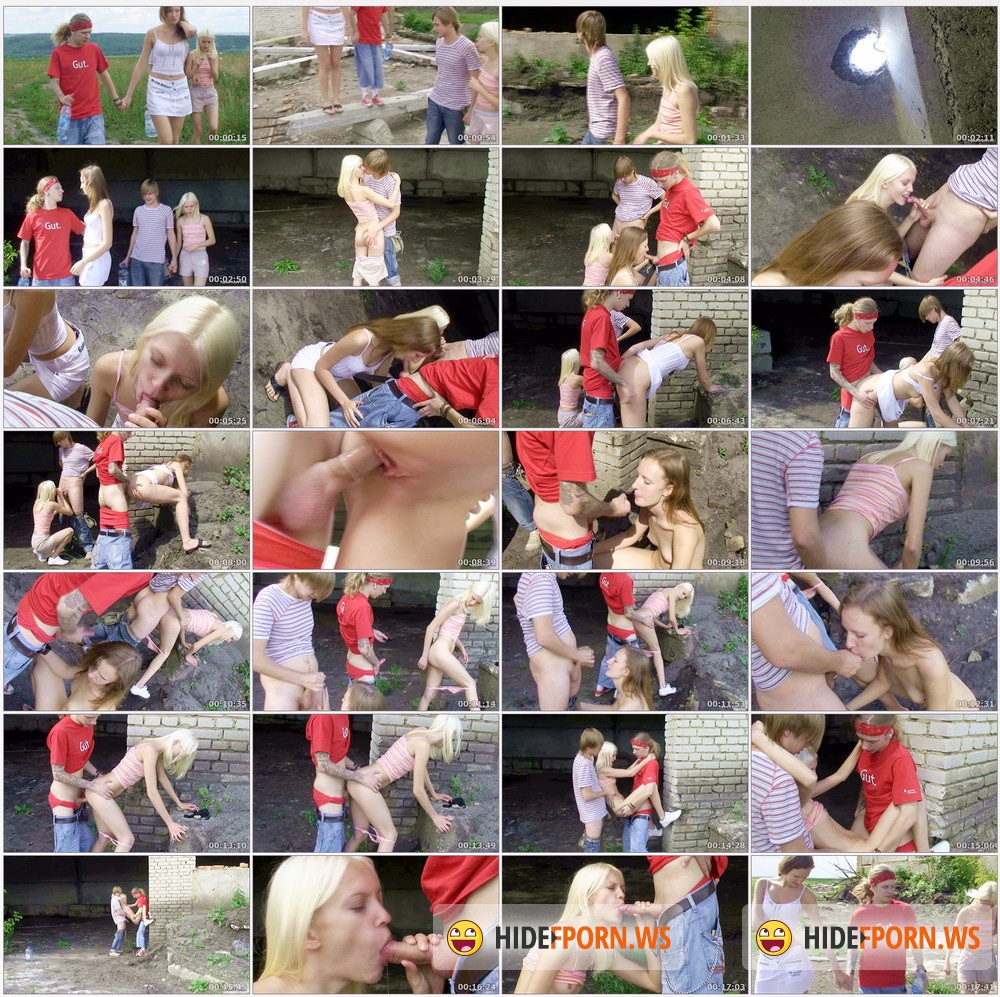 MyTeenVideo.com - Sheila, Vally - Russian Teens Hard Doggy Fucked In A Deserted Building [HD 720p]