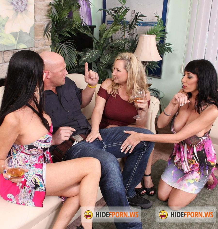 Cougar Sex Club: Rachel Love, Alia Janine, Nadia Night - Nasty Ass Whores Take Turns Fucking Lucky Guy HD [FullHD 1080p]