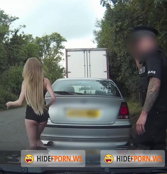 Cop: Carmel - Truck Stop Delight: Tiny bodied slut fucked in police car [HD 720p]