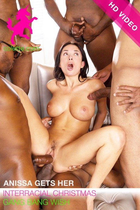 Colette.com: Anissa Kate - Anissa Gets Her Interracial Christmas Gang Bang Wish [SD 544p]