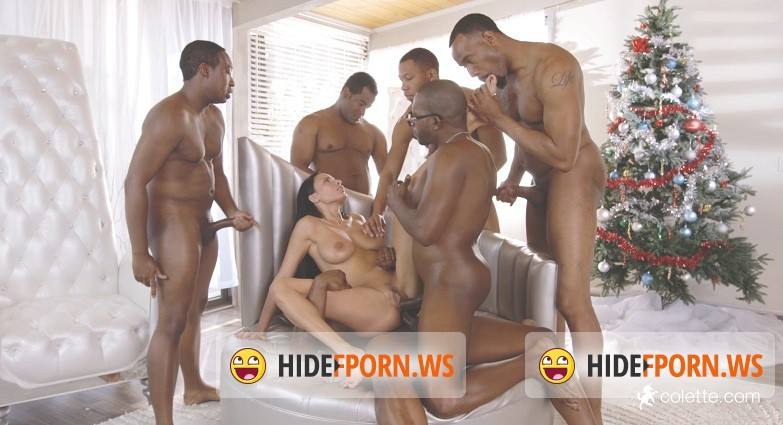 Colette.com - Anissa  - Gets Her Interracial Christmas Gang Bang Wish  [FullHD]