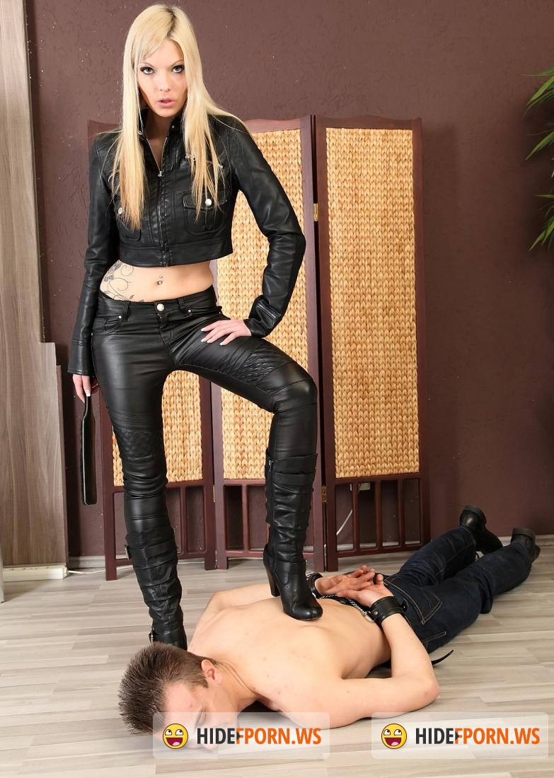 HotSpankingGirls.com: Denise - Strict leather girl Denise shows him how its done! [HD 720p]