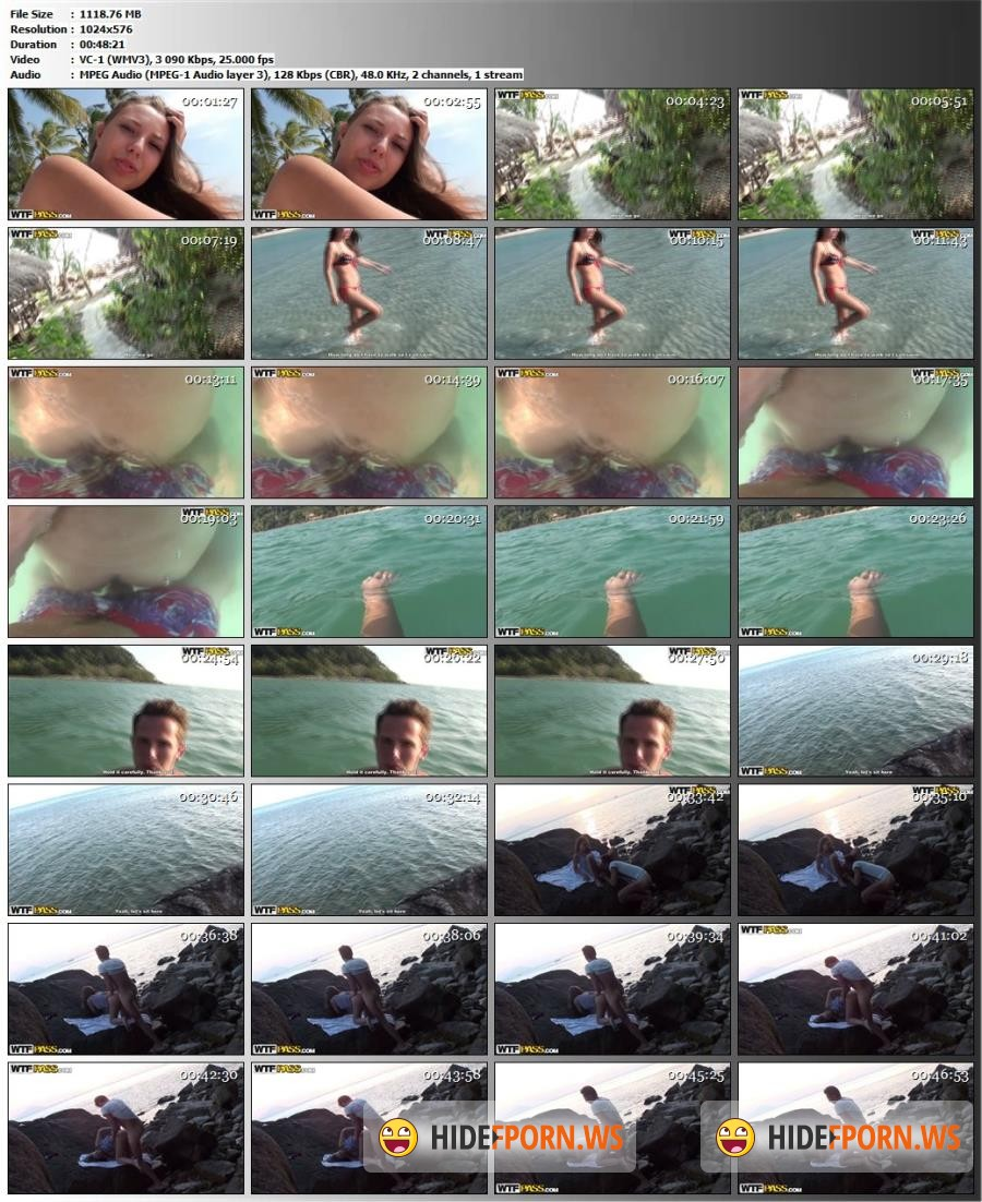 Porntraveling.com - Anya, Slava - Beach porno with fuck in the water [SD 576p]