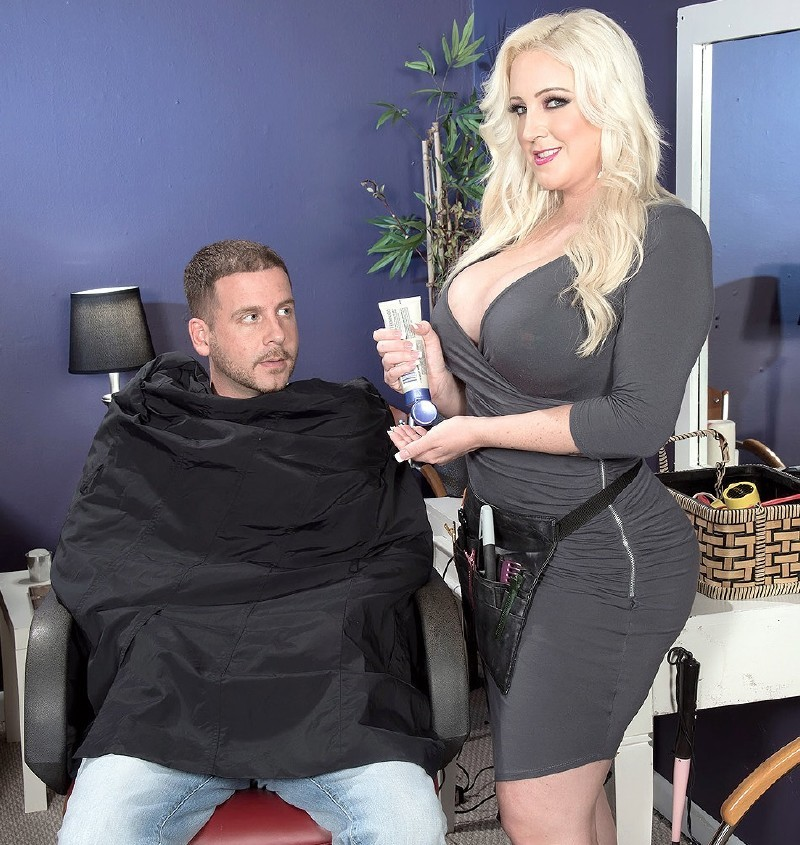 Scoreland.com/PornMegaLoad.com - Holly Wood - The Hot Hooters Of A Horny Haircutter [SD]