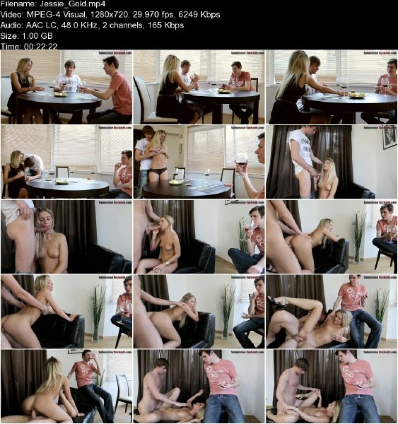 SubmissiveCuckolds.com - Jessie Gold - Submissive Cuckolds [HD 720p]