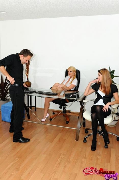 GirlsAbuseGuys.com - Michelle Myers, Sophie Dee, Trisha Rey - Male Secretary [SD 480p]