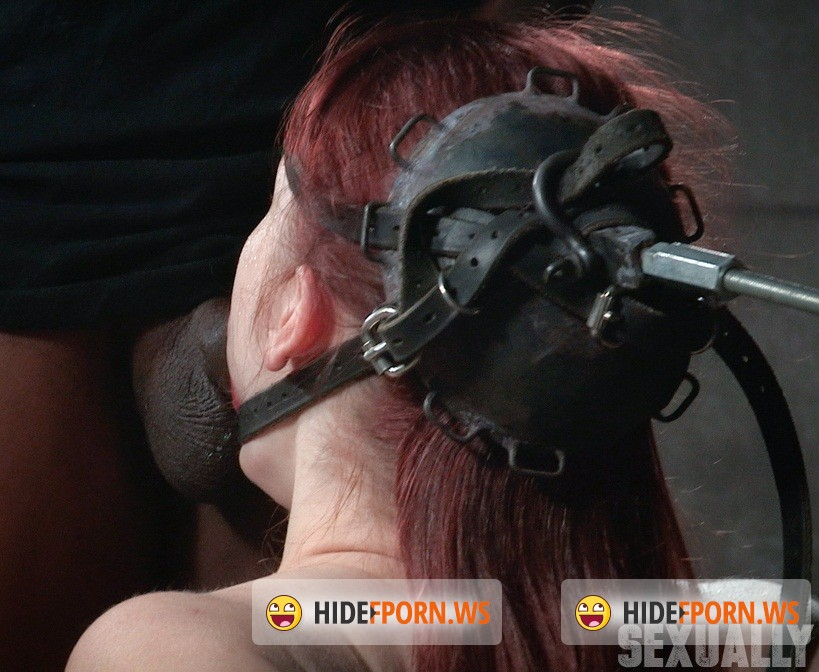 SexuallyBroken.com: Violet Monroe - Violet Monroe does drooling deepthroat on two cocks while firmly bound in the blowjob machine! [HD 720p]