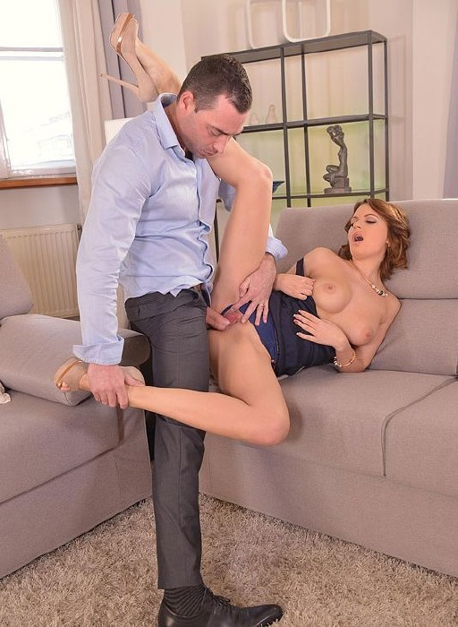 HandsOnHardcore.com/DDFNetwork.com - Emily Thorne - Lusty Lunch Break - Russian Redhead Gets Her Anus Penetrated [SD]