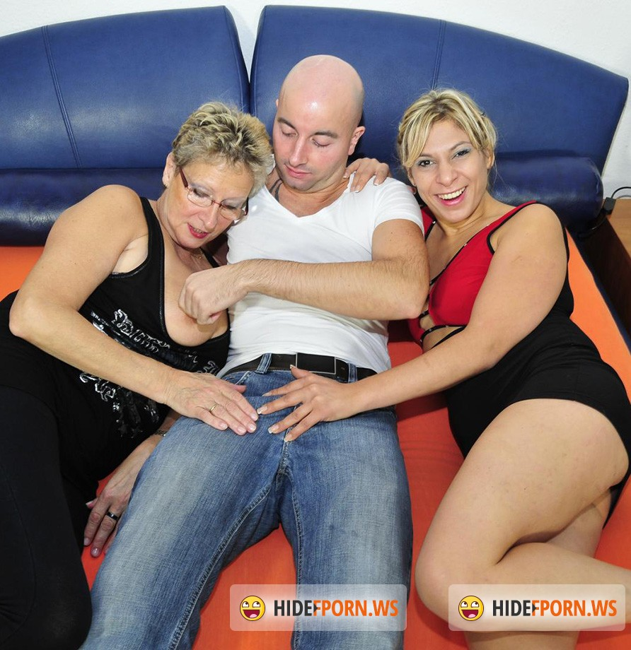 XXXOmas.com / PornDoePremium.com - Angelika J, Elif O - German sluts sharing cock in threesome [HD 720p]