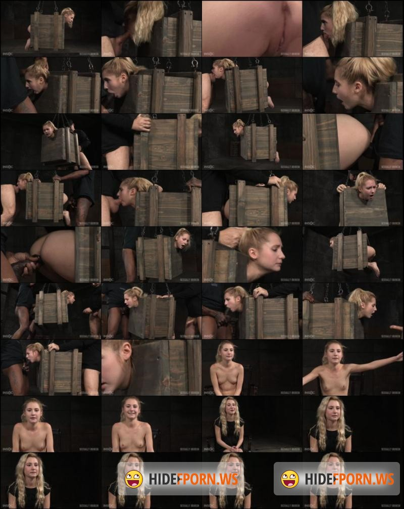 SexuallyBroken.com: Odette Delacroix - Tiny blonde Odette Delacroix bound inside a box and roughly fucked from both ends by cock!  [HD 720p]