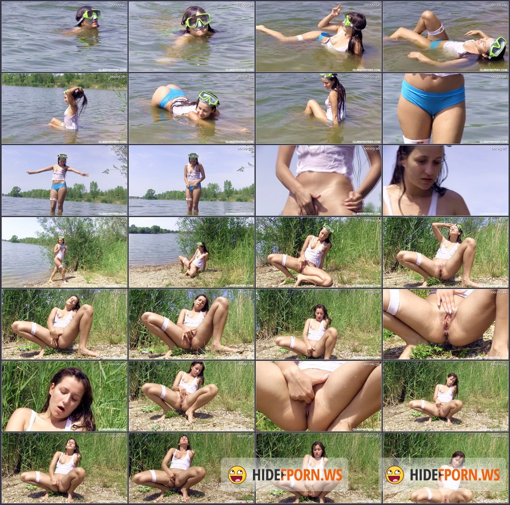 ClubSevenTeen.com - Cindy T - Cindy Fingers Herself At The Beach [FullHD 1080p]