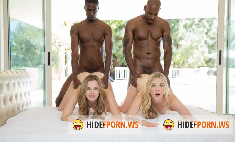 Blacked.com - Jillian Janson, Karla Kush - Interracial Foursome for Two Beautiful Blonde Girls [SD 480p]