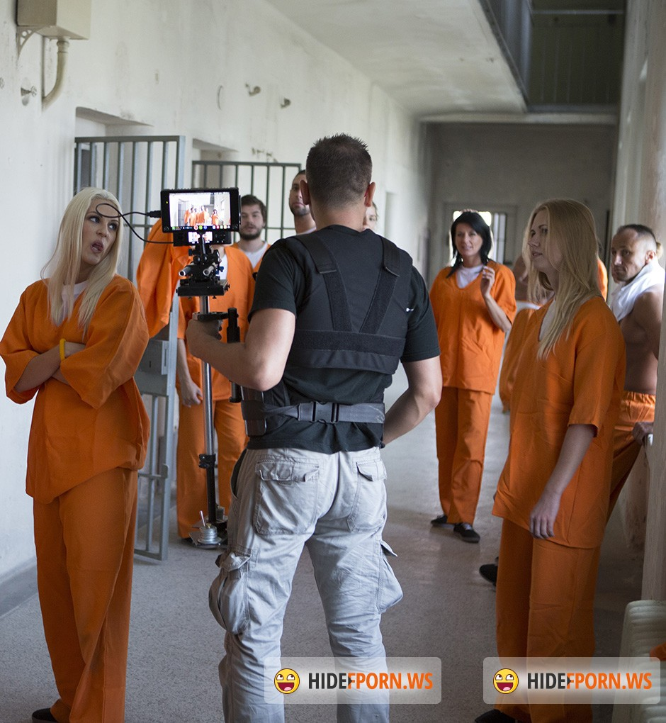 DorcelClub.com - Anna Polina, Alexis Crystal, Blanche Bradburry, Kattie Gold - Making Of - Hot nights in Prison [HD 720p]