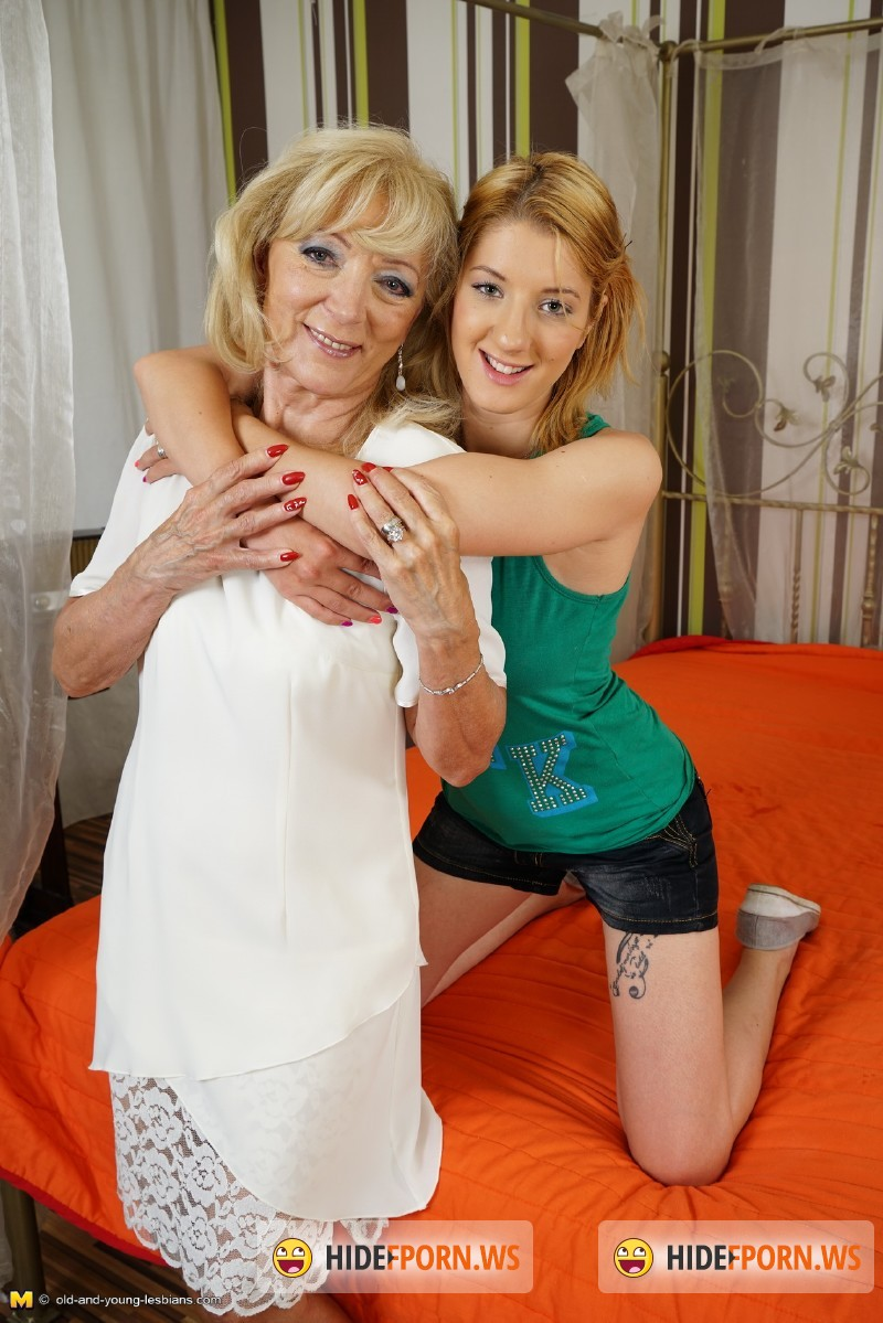 Old-and-young-lesbians.com/Mature.nl - Eleanor (61), Lynsey (19) - Horny old and young lesbian couple fooling around [SD 540p]