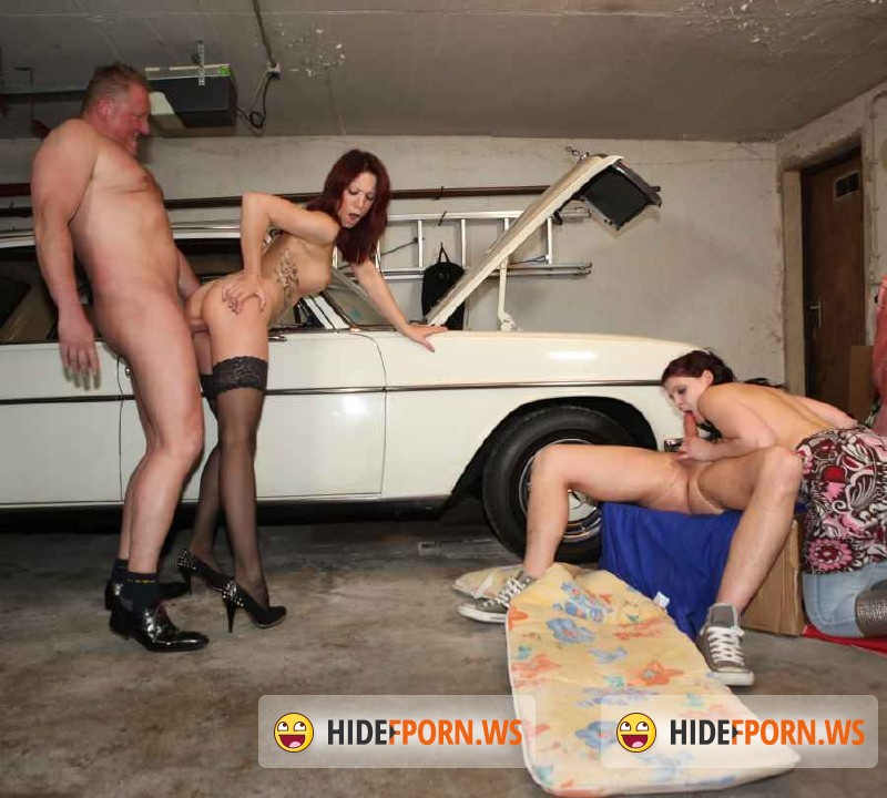 MMVfilms.com - Natalie Hot , Mia Hotcore  - Groping In The Garage [FullHD 1080p]