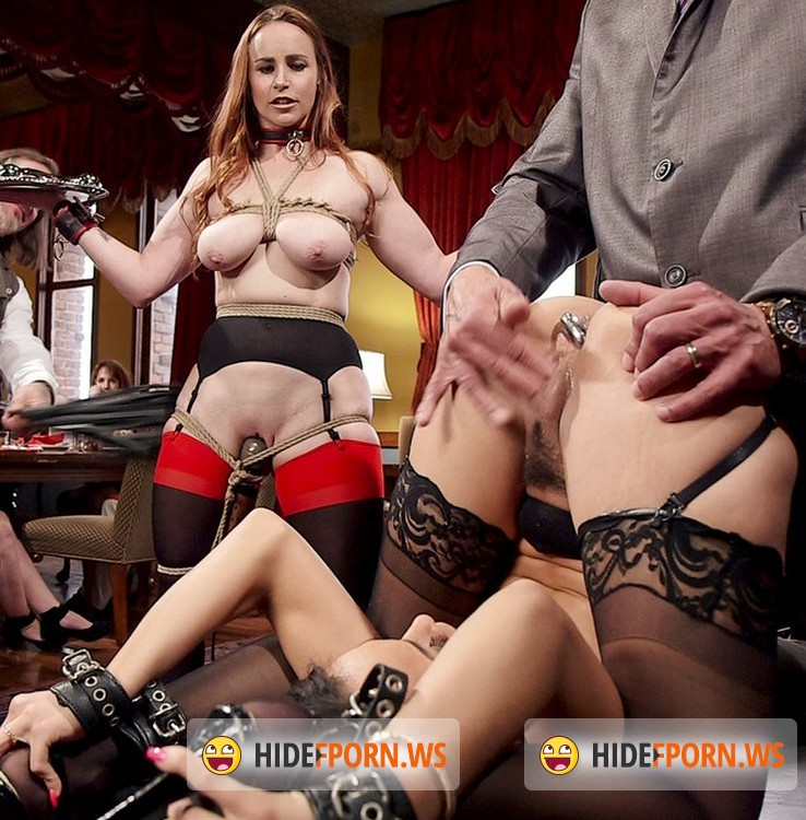 TheupperFloor.com/Kink.com: Bella Rossi, Holly Hendrix - Tiny 18 Year Old Anal Slave Double Stuffed [SD 540p]