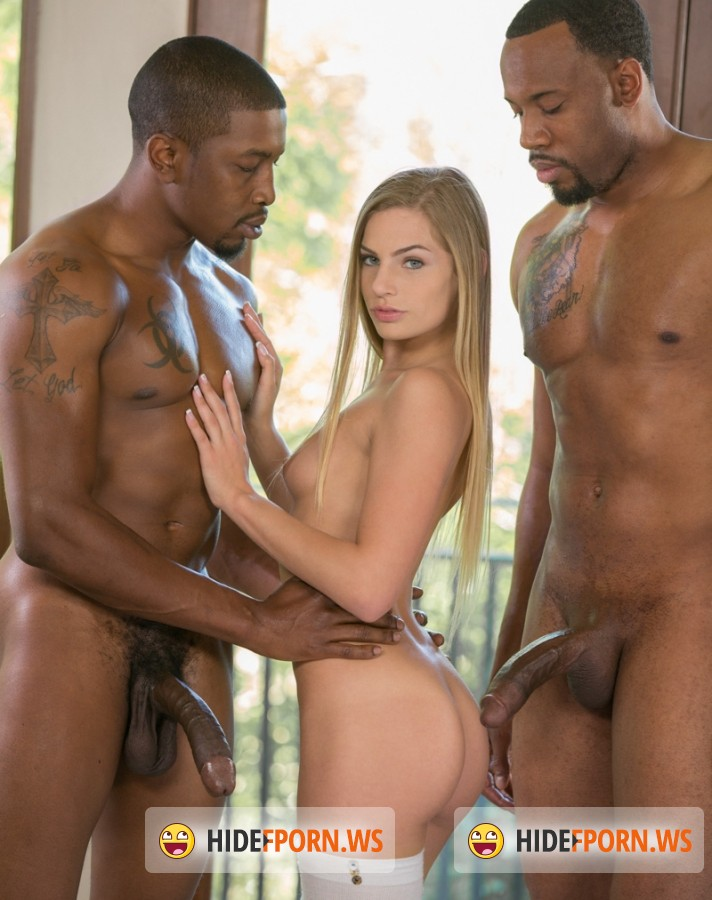 Blacked - Sydney Cole - Blonde Teen Experience with Two Hot Black Men [SD]