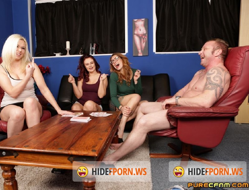 PureCFNM.com - Anna Joy, Ava Austen, Bonnie Rose  - Strip Poker Voyeurs [SD 480p]